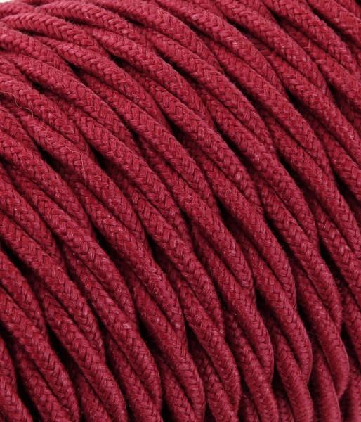 Textilkabel cherry verdrillt
