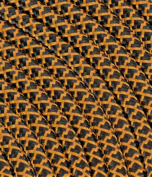 "Textilkabel schwarz/kupfer ""Caro"" TO500, 3 x 0,75mm²"