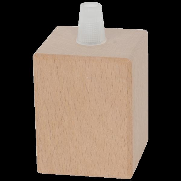 Holz Fassung-Hülse quadro small E27