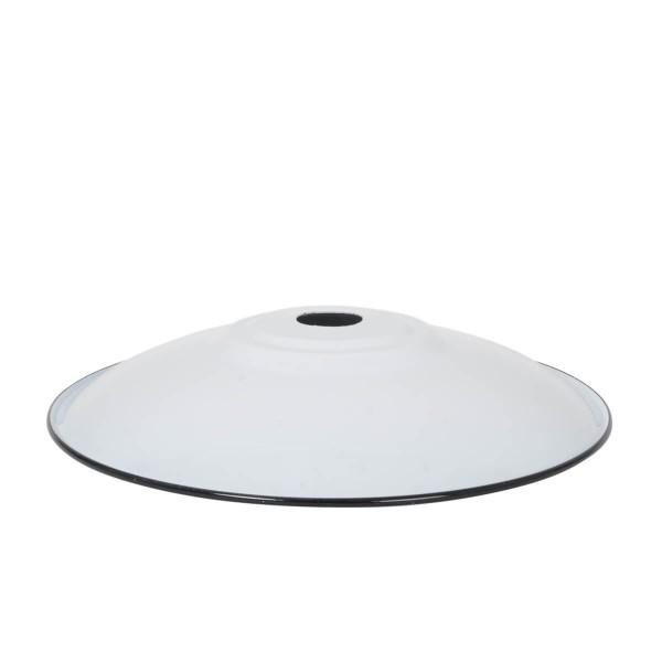 Emaille Lampenschirm Flat XL weiss