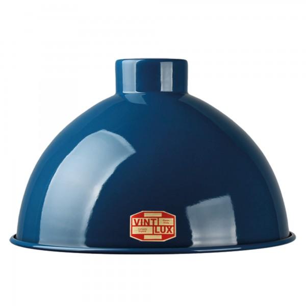 Emaille Lampenschirm Dome Navi Blue Vintlux