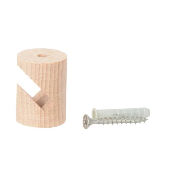 Kabelhalter zum Einhängen aus Holz