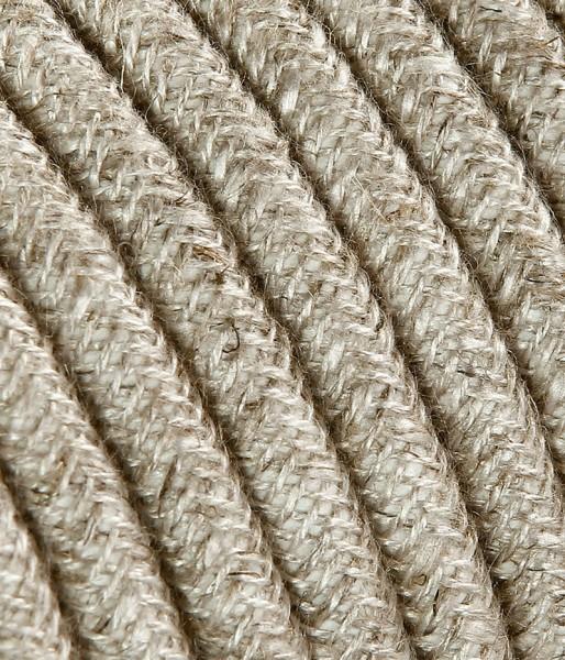 Textilkabel Baumwolle hell, 3 x 1.5mm²