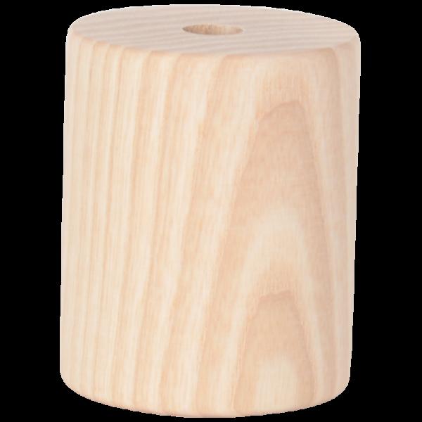 Holz Fassung-Hülse Zylinder kurz E27