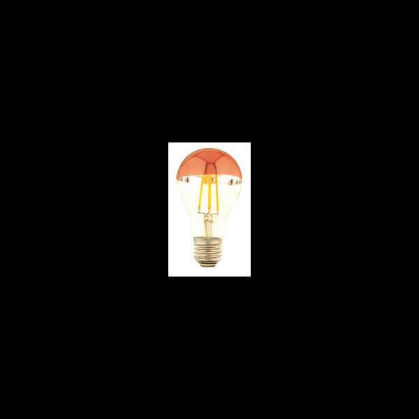 LED A60 Spiegelkopf 7W E27 Kupfer