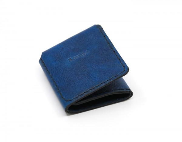 "Rindsleder Portemonnaie ""Konigs"" - blau"