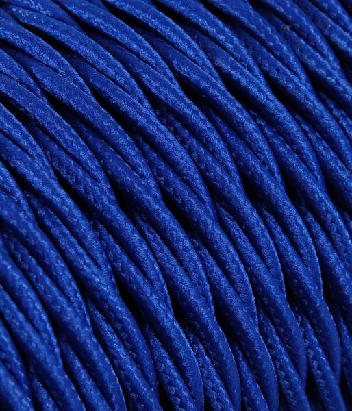 Textilkabel blau verdrillt TR10, 3 x 0,75mm²