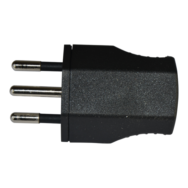 3-poliger Stecker schwarz T12