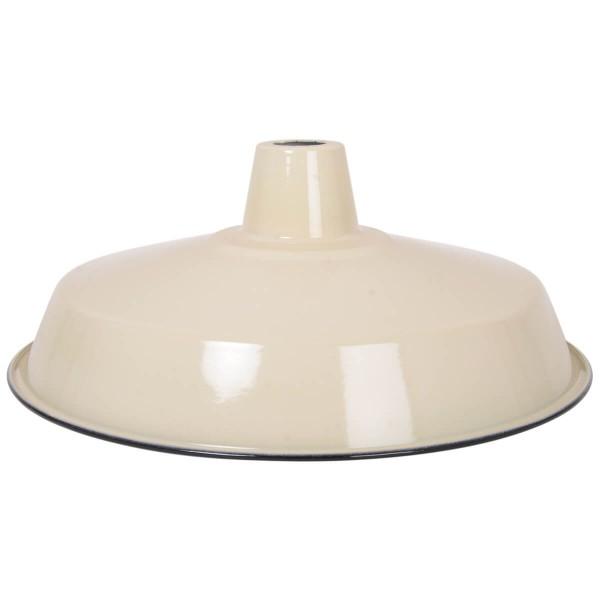 Lampenschirm panna aus emailliertem Stahl
