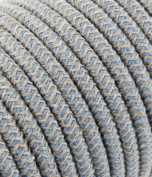 "Textilkabel sabbia/blau ""Zick-Zack"" TO430, 3 x 0,75mm²"