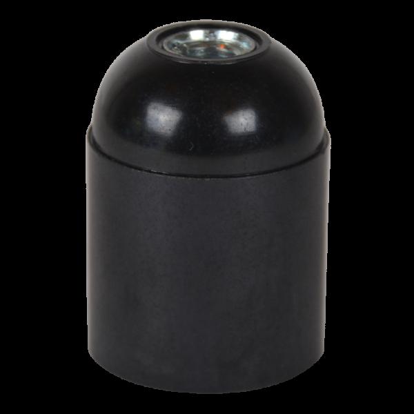 Glattmantel Bakelitfassung E27 schwarz