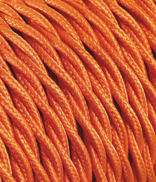 Textilkabel orange verdrillt TR5, 3 x 0,75mm²
