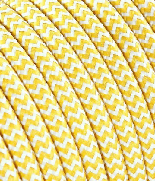 Textilkabel gelb weiss Konigs