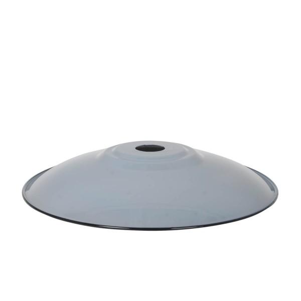 Emaille Lampenschirm Flat XL grau