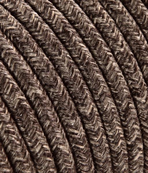 Textilkabel Baumwolle Braun TO404, 2 x 0,75mm²