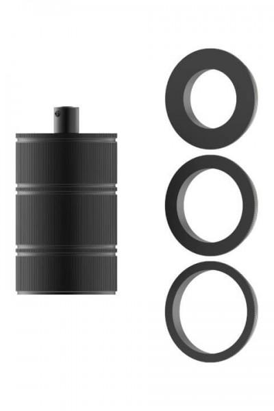 Lampenfassung E27 schwarz mit Abschlussring