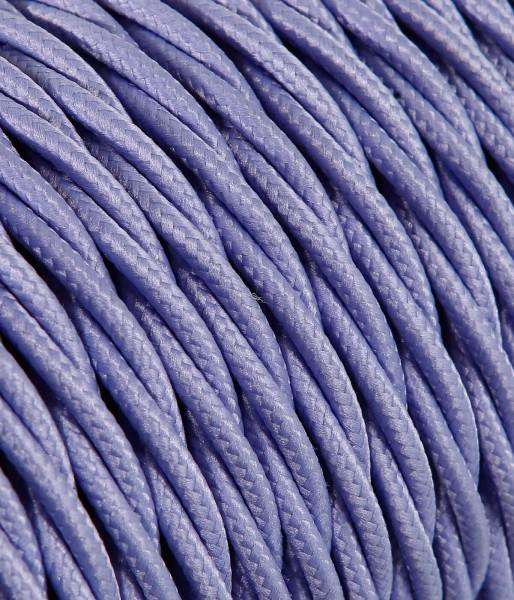 Textilkabel lila verdrillt Konigs