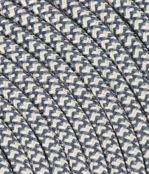 """Textilkabel graphit/weiss """"Caro"""" TO504"""