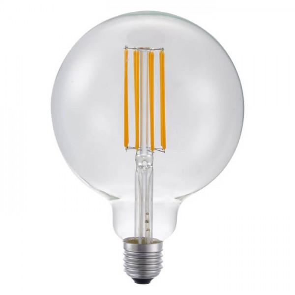 LED G125 Globe klar 8W 550lm E27 | Schiefer Lighting