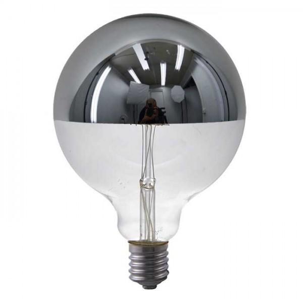 LED G125 Spiegelkopf silber 6.5W 470lm E27 | Schiefer Lighting