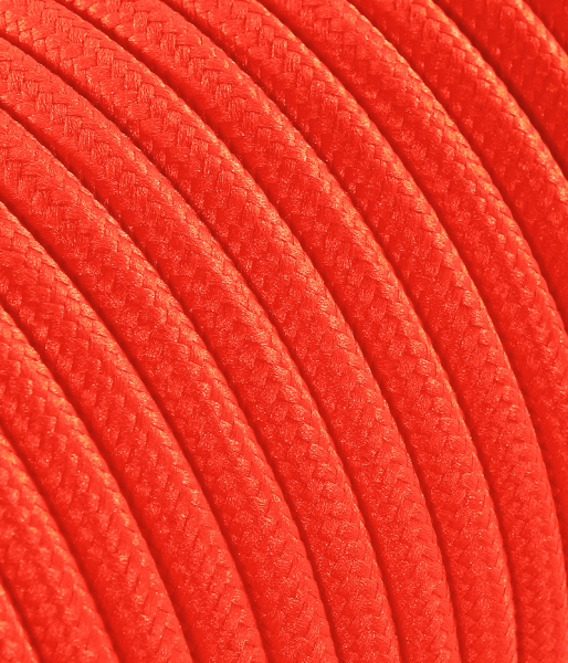 Textilkabel neon-orange TO80, 3 x 0,75mm²