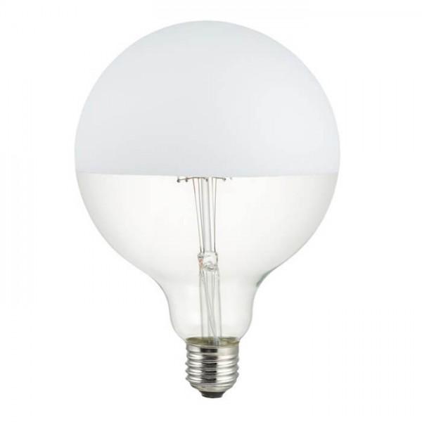 LED G125 Spiegelkopf weiss 6.5W 470lm E27 | Schiefer Lighting