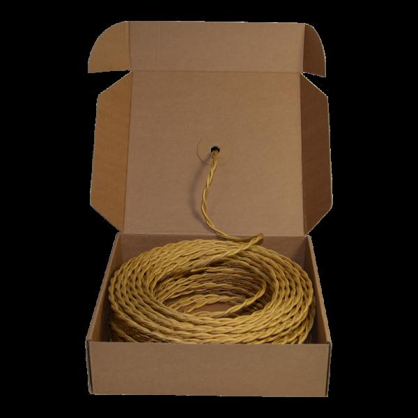 Lautsprecherkabel gold verdrillt NOCE, 2 x 1,5mm²