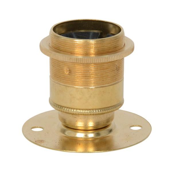 Aufbaufassung Brass E27 mit Stellring