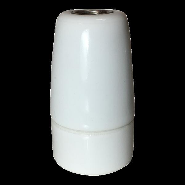 Premium Porzellanfassung E14 weiss glanz