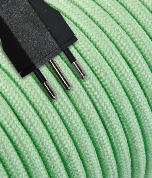 Anschlusskabel Textil 5m mint mit Stecker T12
