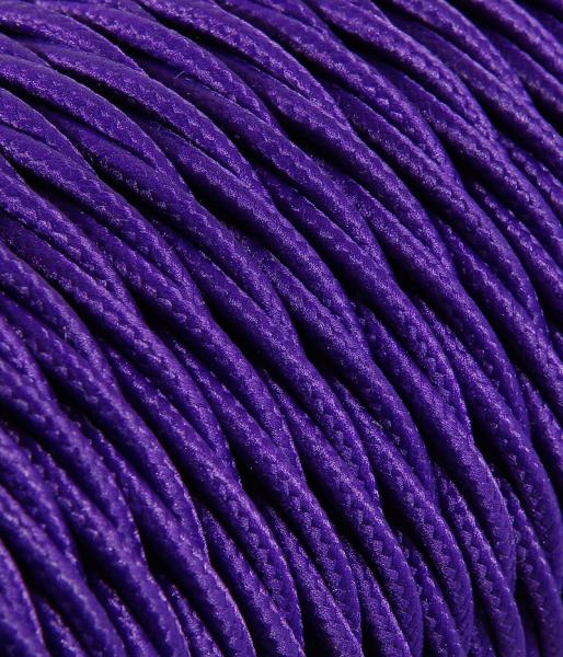Textilkabel violett verdrillt TR13, 3 x 0,75mm²