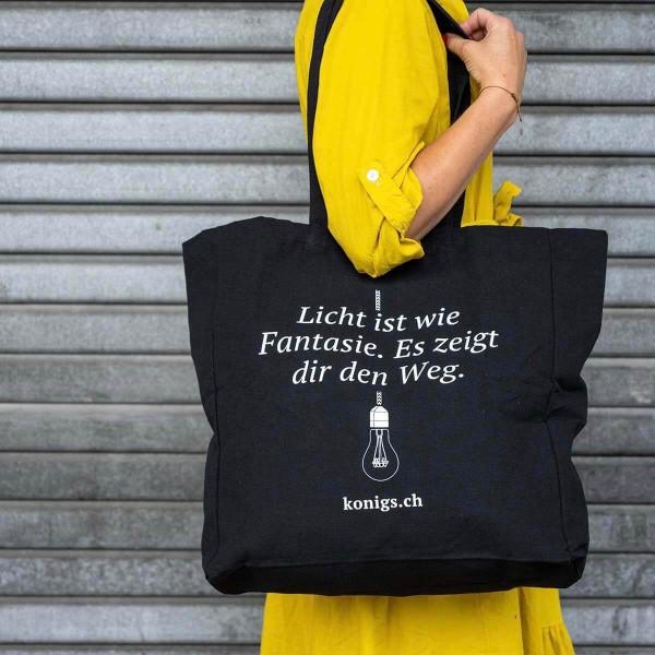 Stofftasche - Licht ist wie Fantasie. Es zeigt dir den Weg.