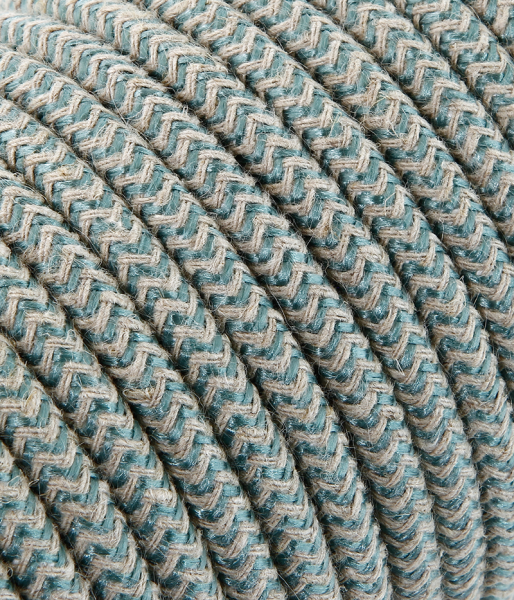 "Textilkabel sabbia/salbei ""Zick-Zack"" TO435, 3 x 0,75mm²"