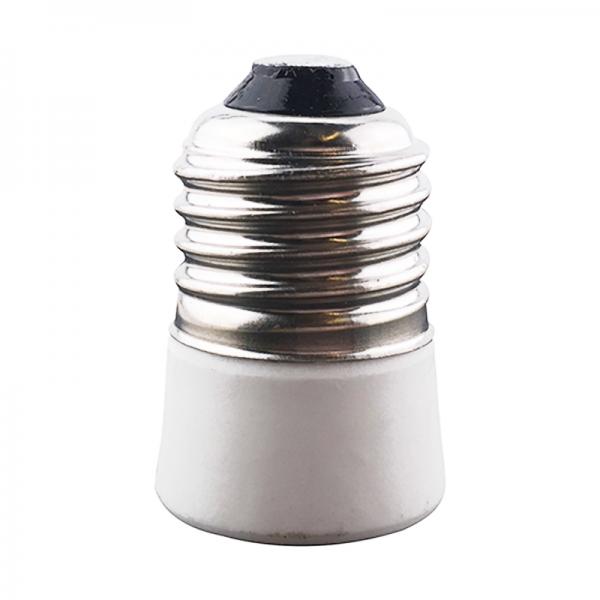 Adapter E27 / E14 Keramik weiss
