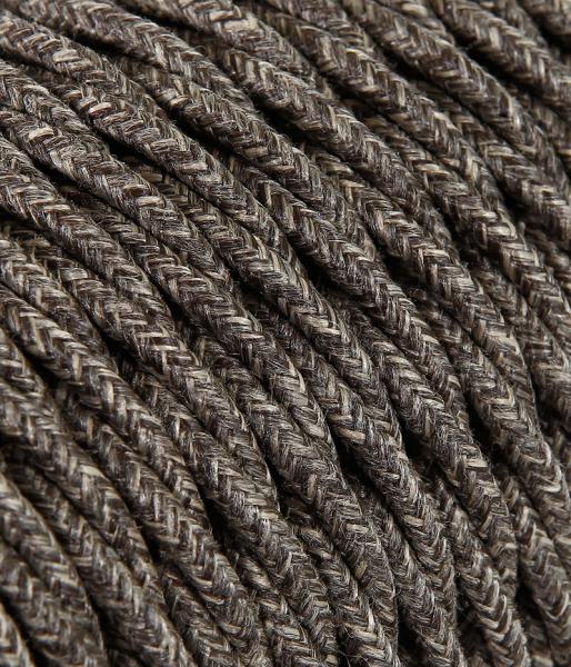 Textilkabel Baumwolle braun verdrillt TR404, 2 x 0,75mm²