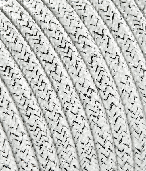Textilkabel weiss metallic TO452, 3 x 0,75mm²