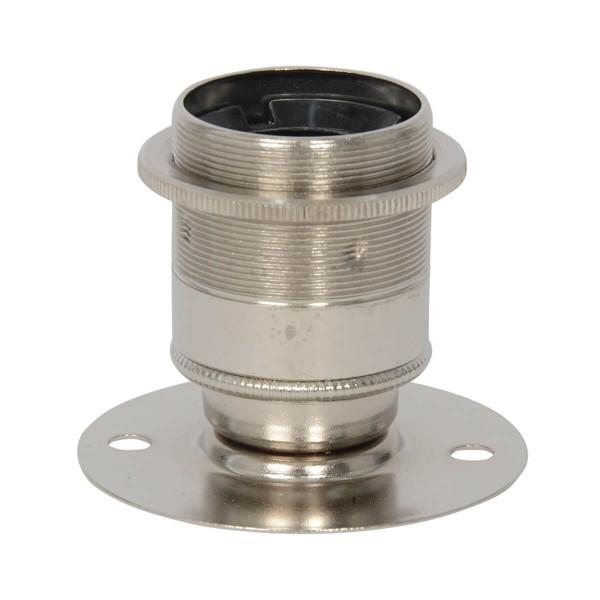 Aufbaufassung mit Stellring für Lampenschirm E27 Nickel