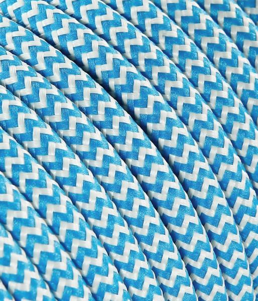 Textilkabel türkis weiss Konigs