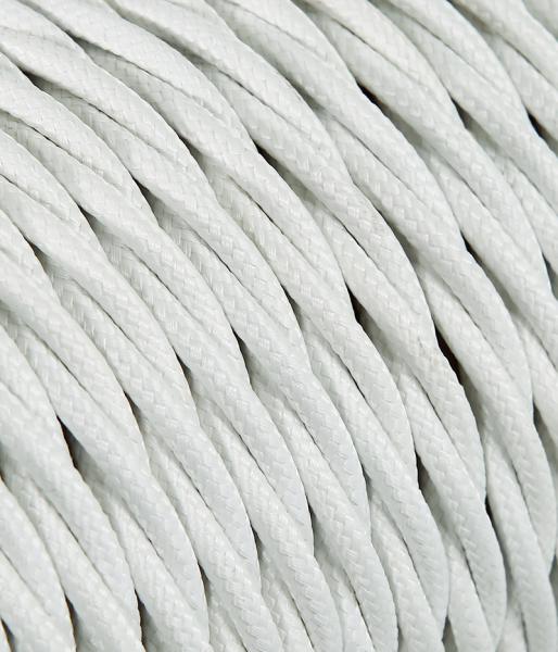 Textilkabel weiss verdrillt TR3, 2 x 0,75mm²