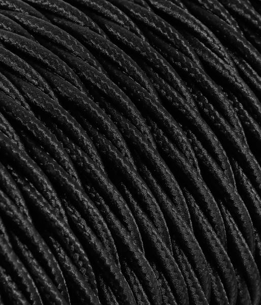 Textilkabel schwarz verdrillt TR12, 3 x 0,75mm²