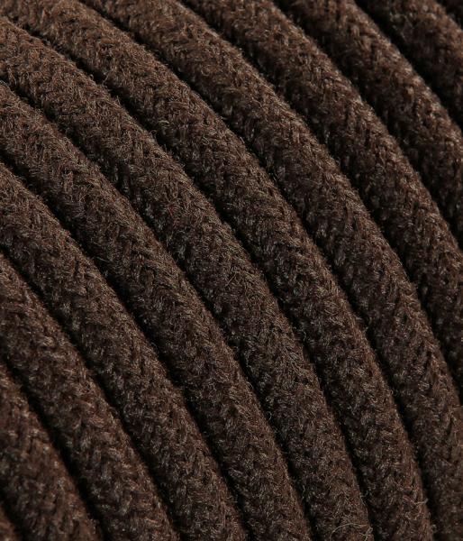 Textilkabel Jeans braun matt TO412, 2 x 0,75mm²